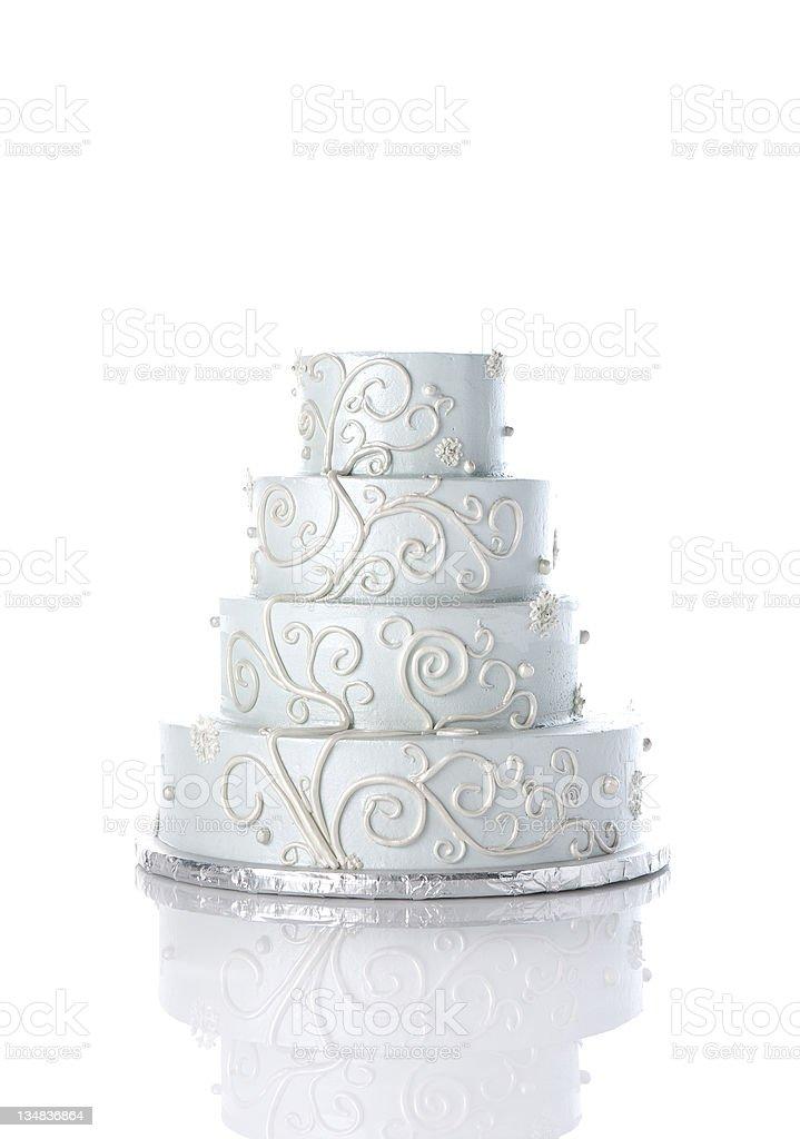 Ornate Wedding Cake stock photo