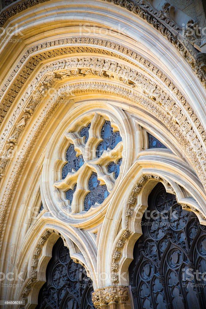 Ornate Window at York Minster stock photo