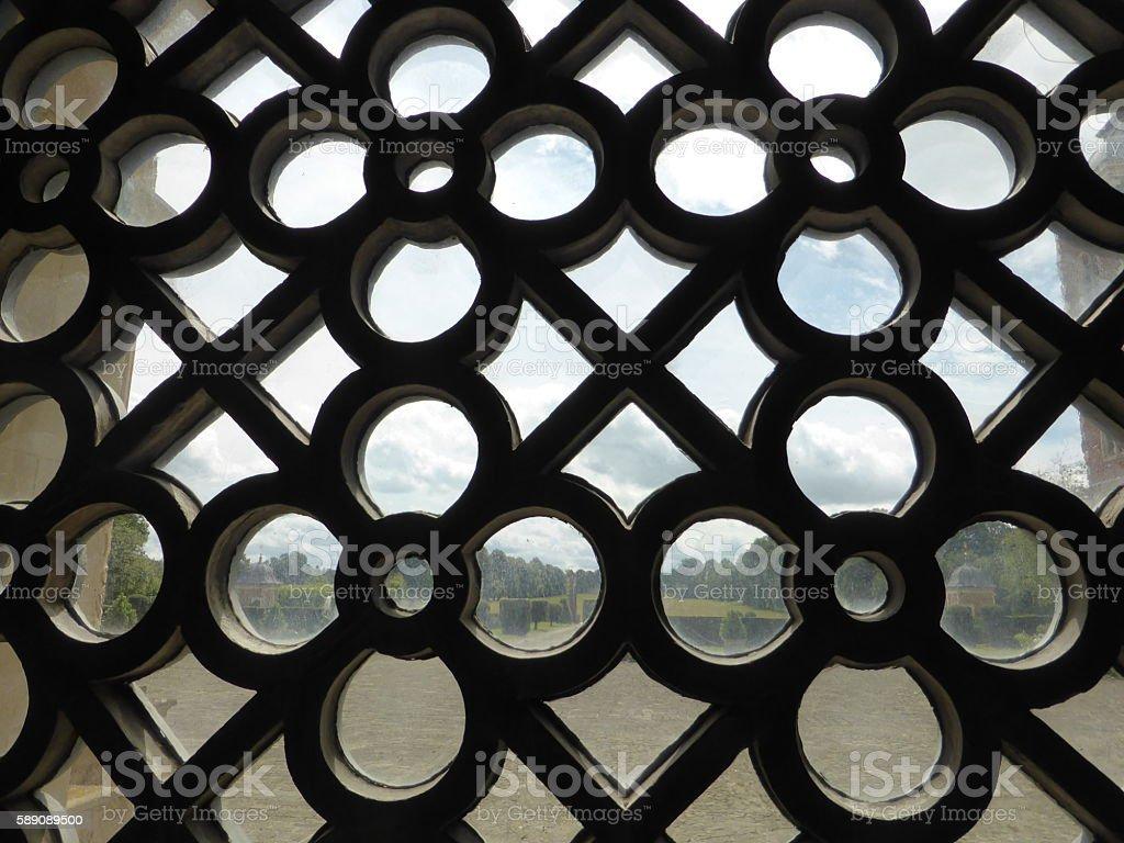 Ornate Window stock photo