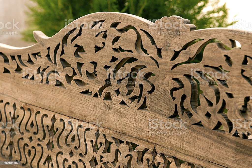 Ornate Wood Carving royalty-free stock photo