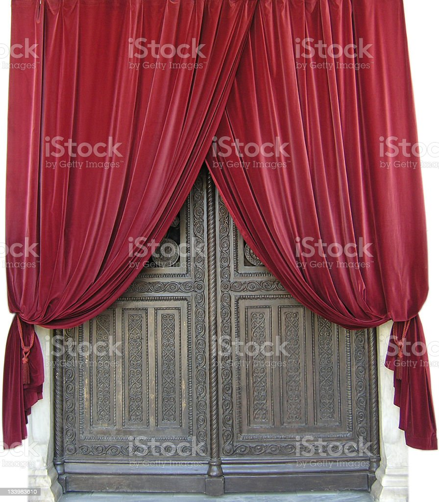 Ornated door in Athens royalty-free stock photo