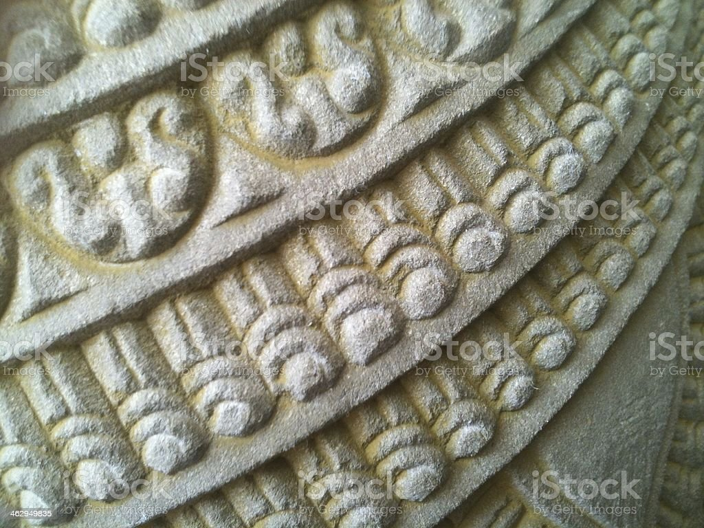 Ornated sculpture close-up stock photo