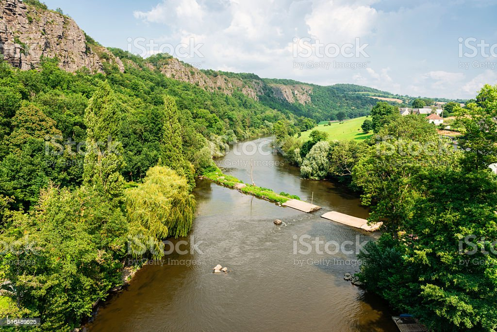 Orne River in Normandy stock photo