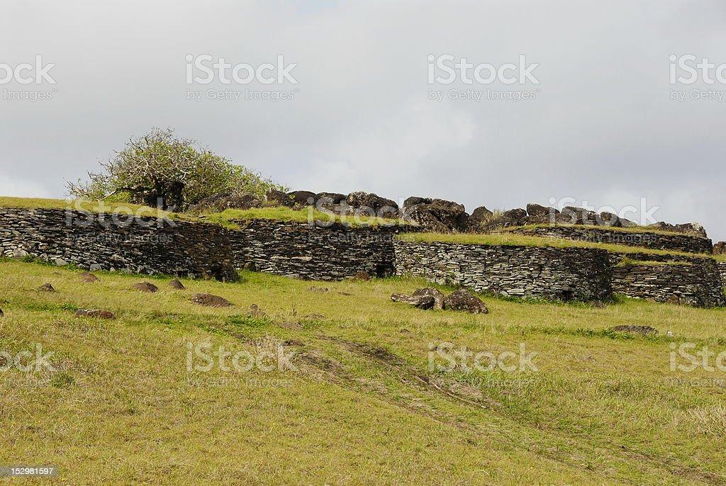 Orongo village stock photo