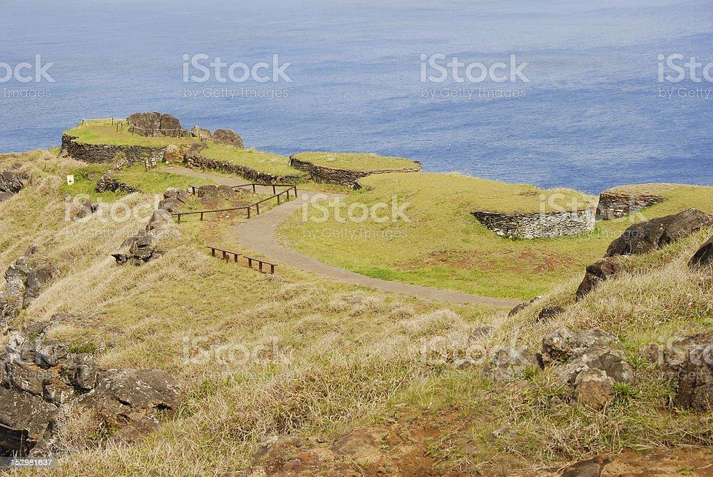 Orongo village royalty-free stock photo