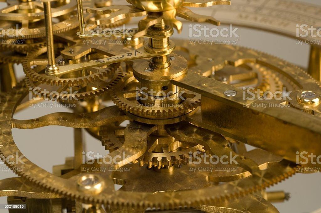 Orrery Gears stock photo