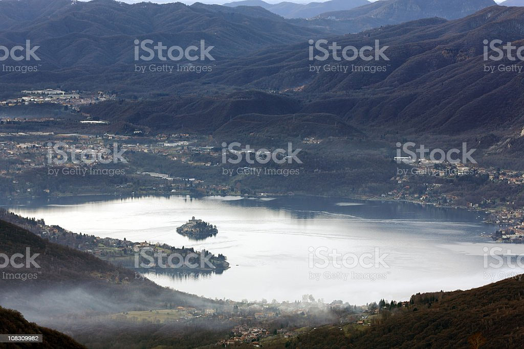 Orta San Giulio. Color Image royalty-free stock photo