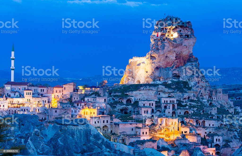 Ortahisar Castle stock photo