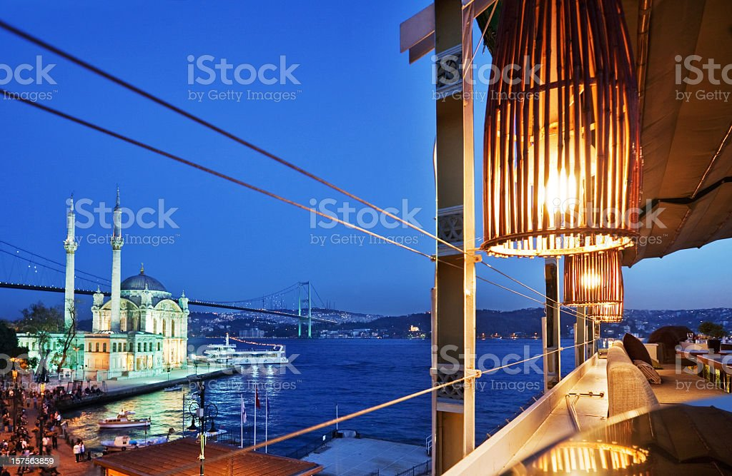 Ortakoy Mosque in Istanbul royalty-free stock photo