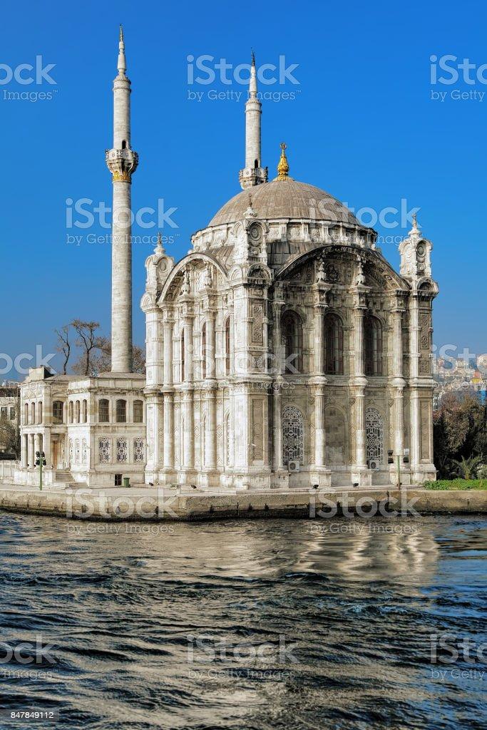 Ortakoy mosque in Istanbul, Turkey stock photo