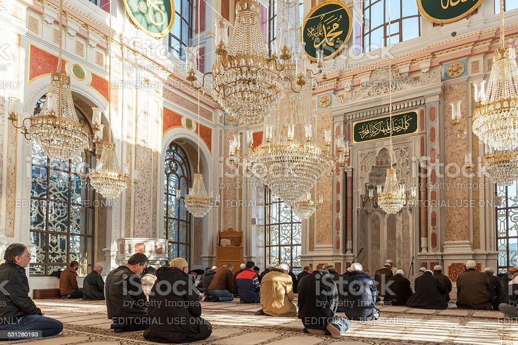 Ortakoy Mosque Interior stock photo