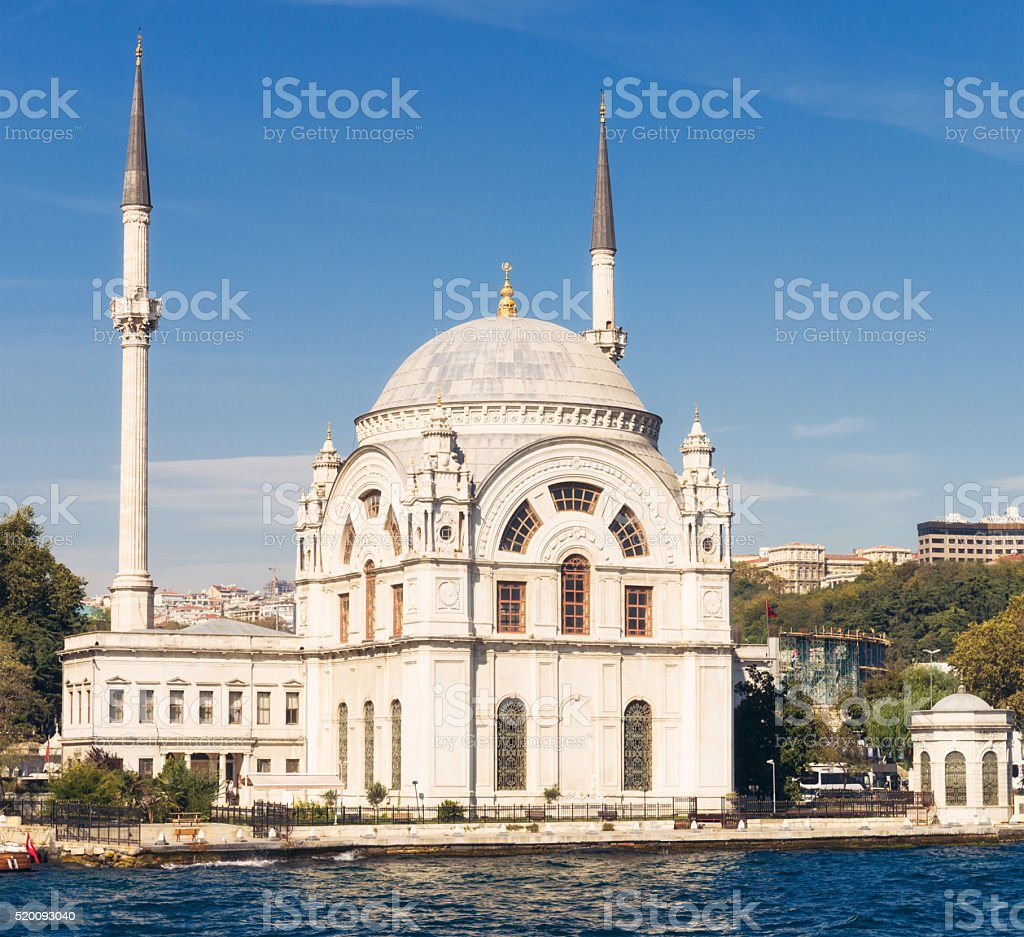 Ortaköy Mosque on the Bosphorus, Istanbul stock photo
