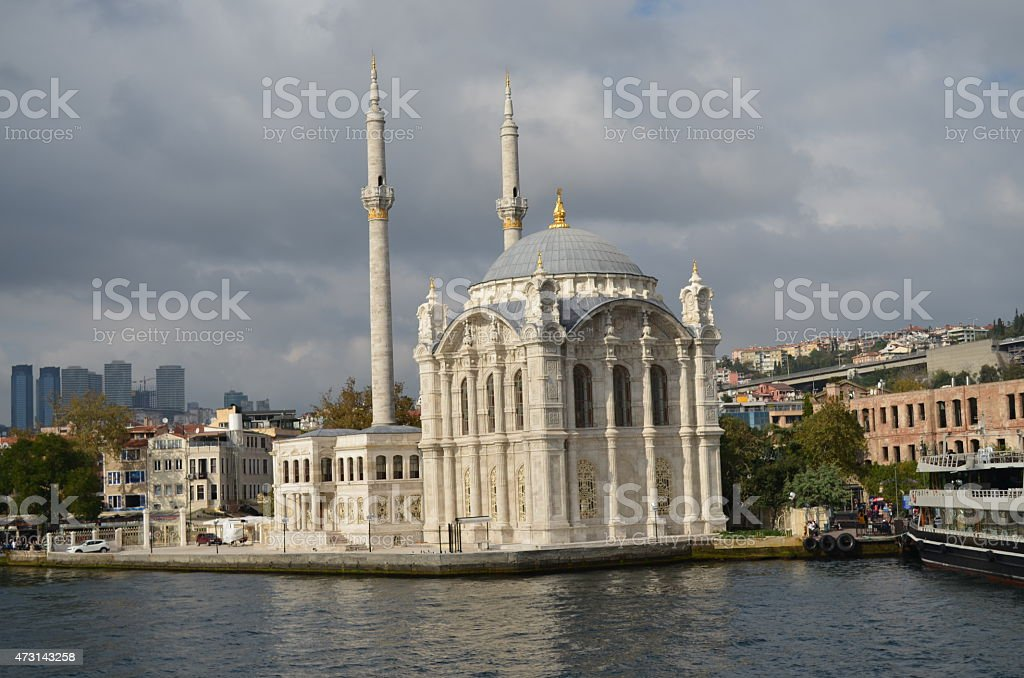 Ortak?y Mosque stock photo