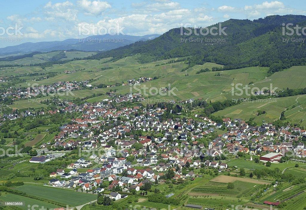 Ortenberg aerial stock photo