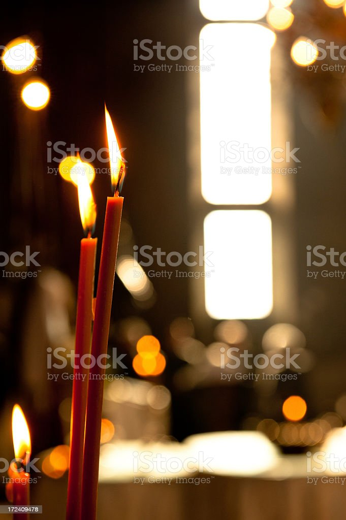 Orthodox Candles royalty-free stock photo