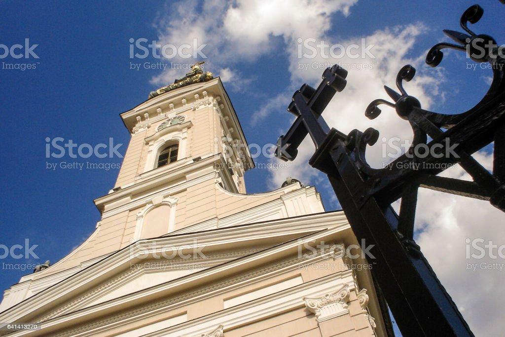 Orthodox Cathedral in Novi Sad stock photo