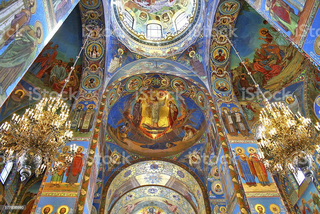 Orthodox cathedral interior royalty-free stock photo