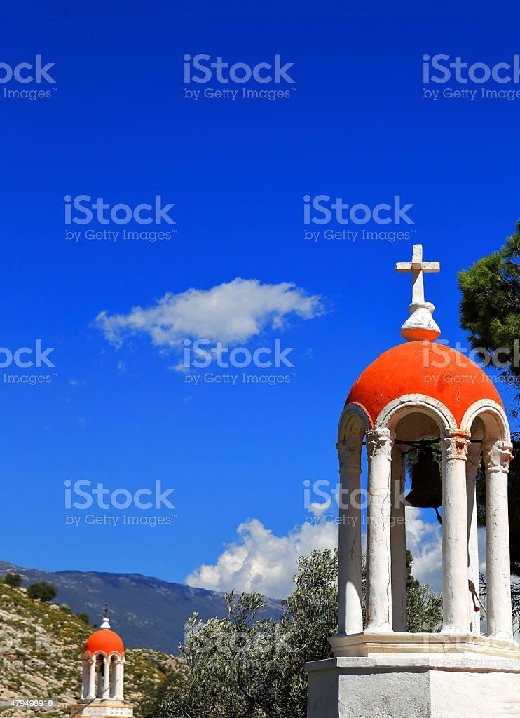 Orthodox chapel-Greece stock photo