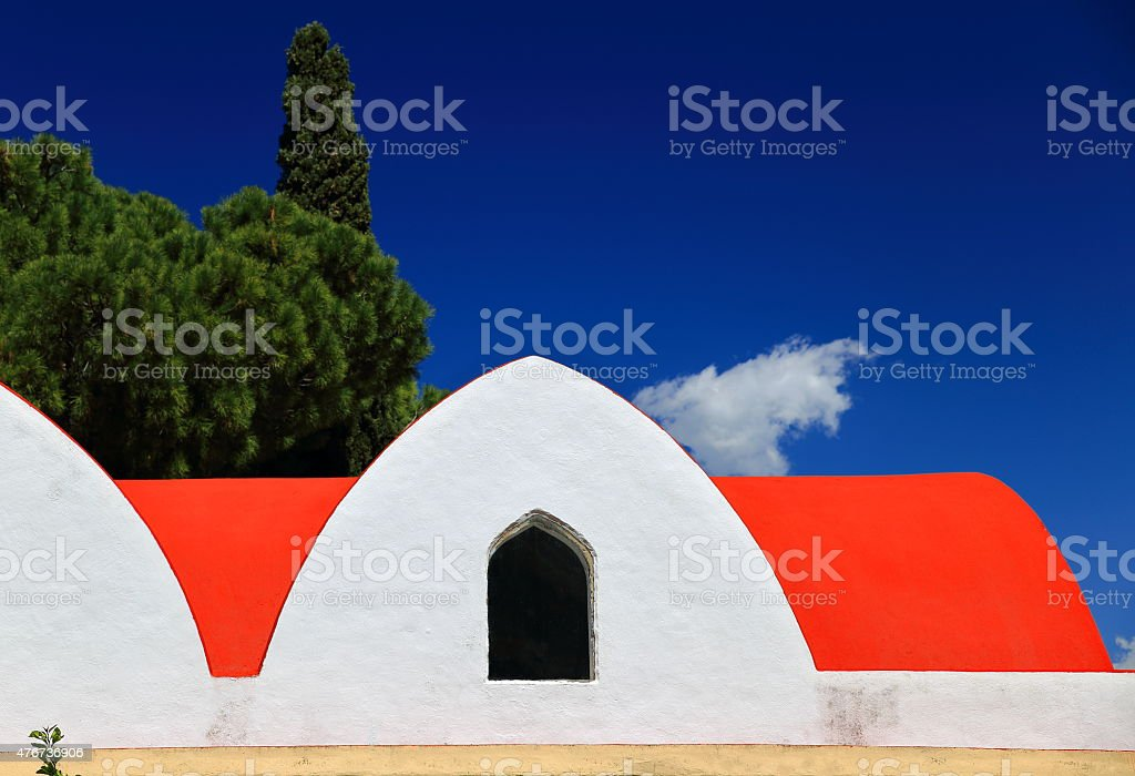 Orthodox chapel-Kastellorizo stock photo
