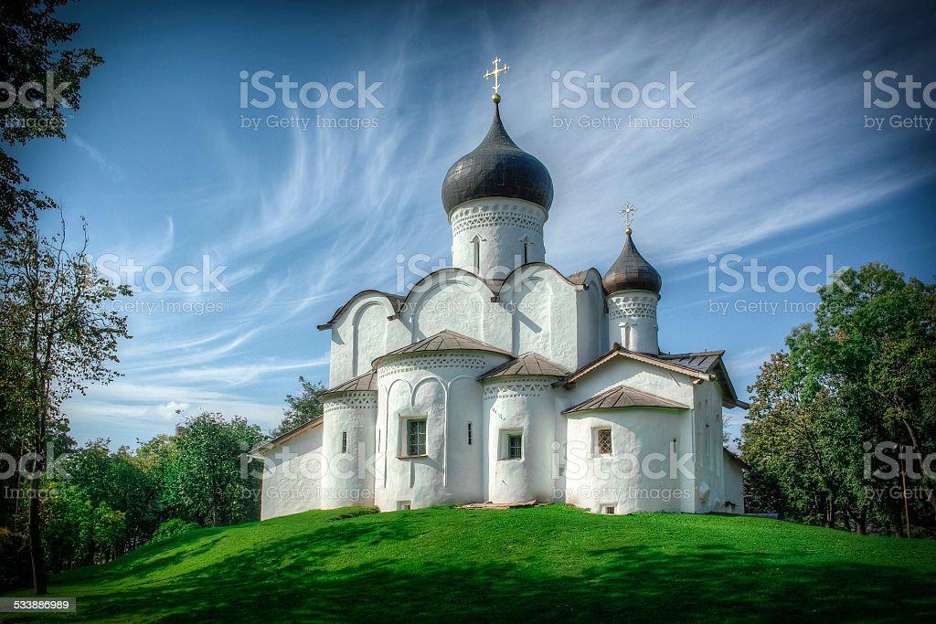 Orthodox Christian church in Russia stock photo
