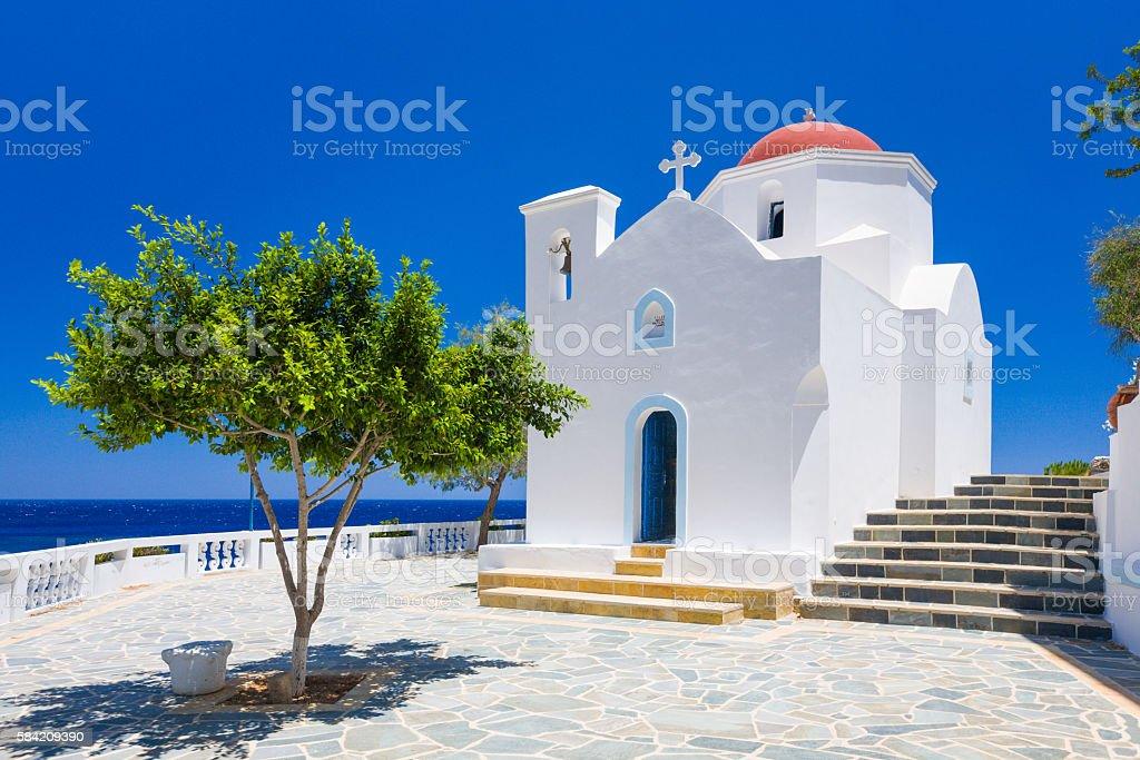 Orthodox church at Kyra Panagia, Karpathos island, Greece stock photo