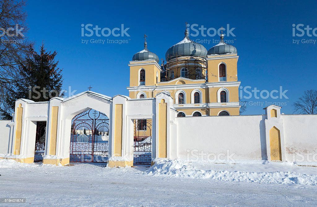 Orthodox Church,  Belarus stock photo