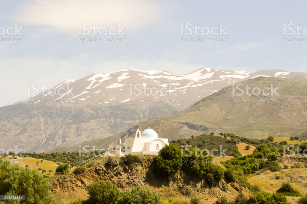 Orthodox church blue and white stock photo