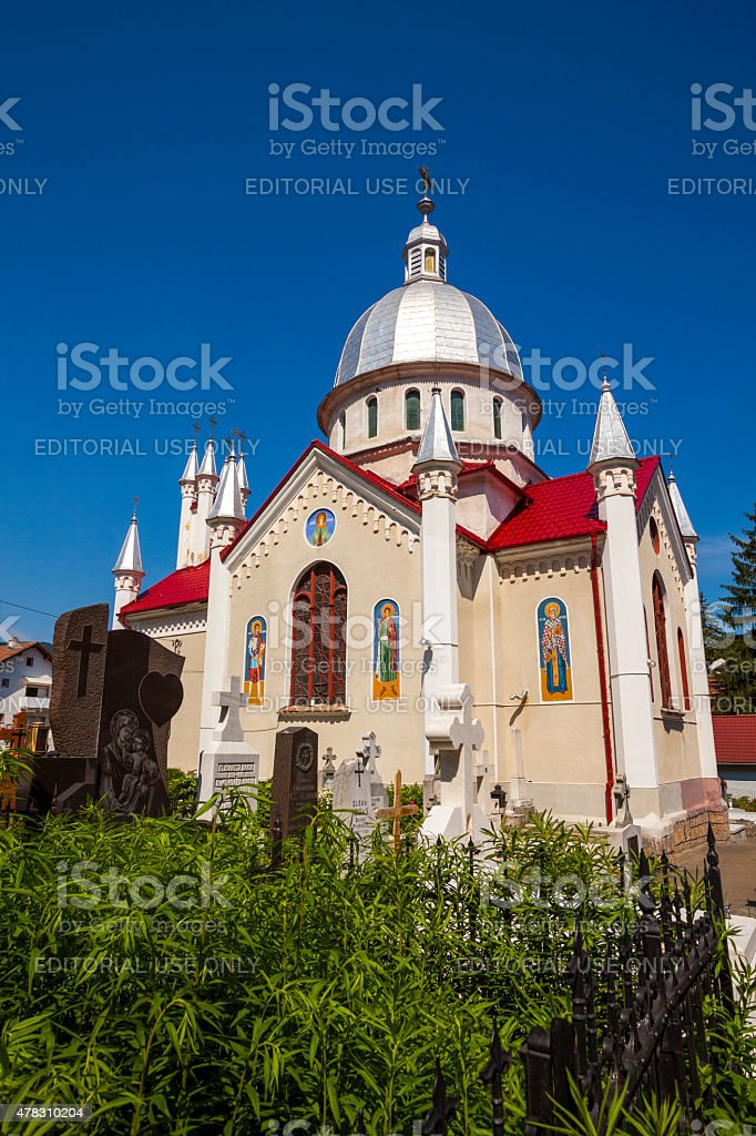 Orthodox church, Brasov, Romania stock photo