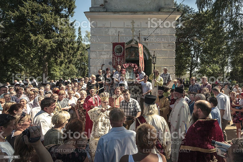 Orthodox church celebrations stock photo