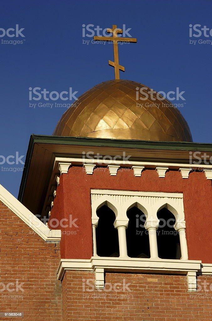 orthodox church dome royalty-free stock photo