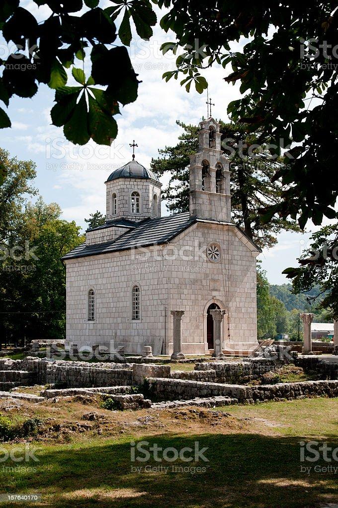 Chiesa ortodossa Cetinje foto stock royalty-free