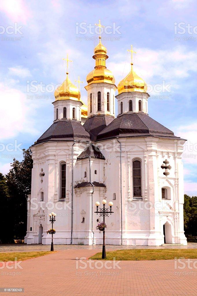 Orthodox church in Chernigiv, Ukraine stock photo