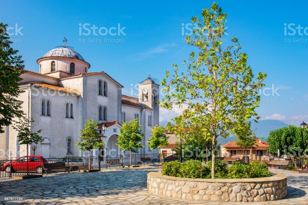 Orthodox Church in Kastraki village. Greece stock photo