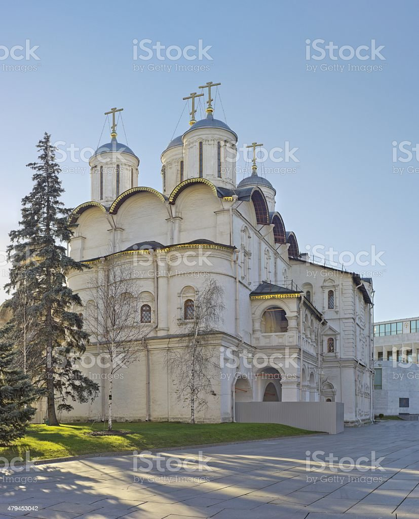 Orthodox church in Moscow Kremlin, Russia stock photo