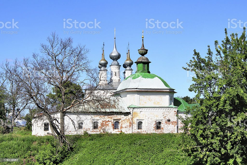 Orthodox church in Suzdal, Russia royalty-free stock photo