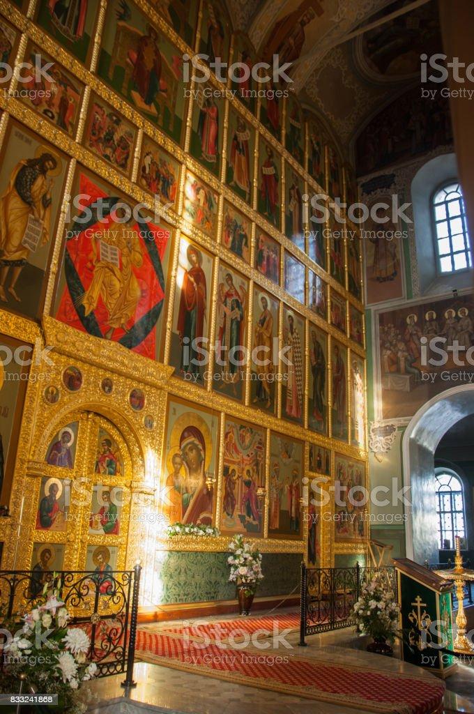 Orthodox church. Kazan. Kazan Kremlin stock photo