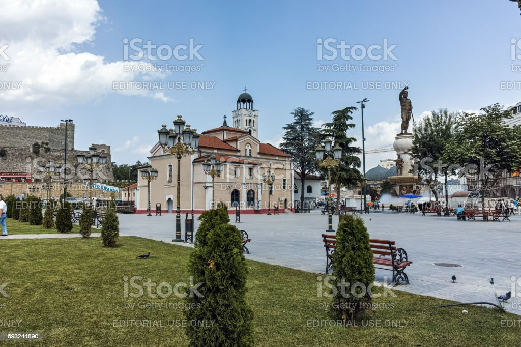 Orthodox Church of Church St. Demetrius in Skopje, Republic of Macedonia stock photo