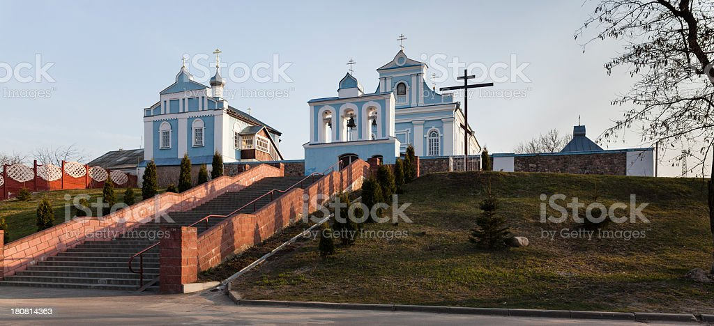 Orthodox Church of the Dormition stock photo