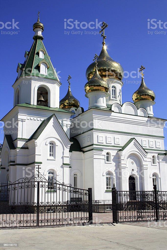 Orthodox church. Russia stock photo