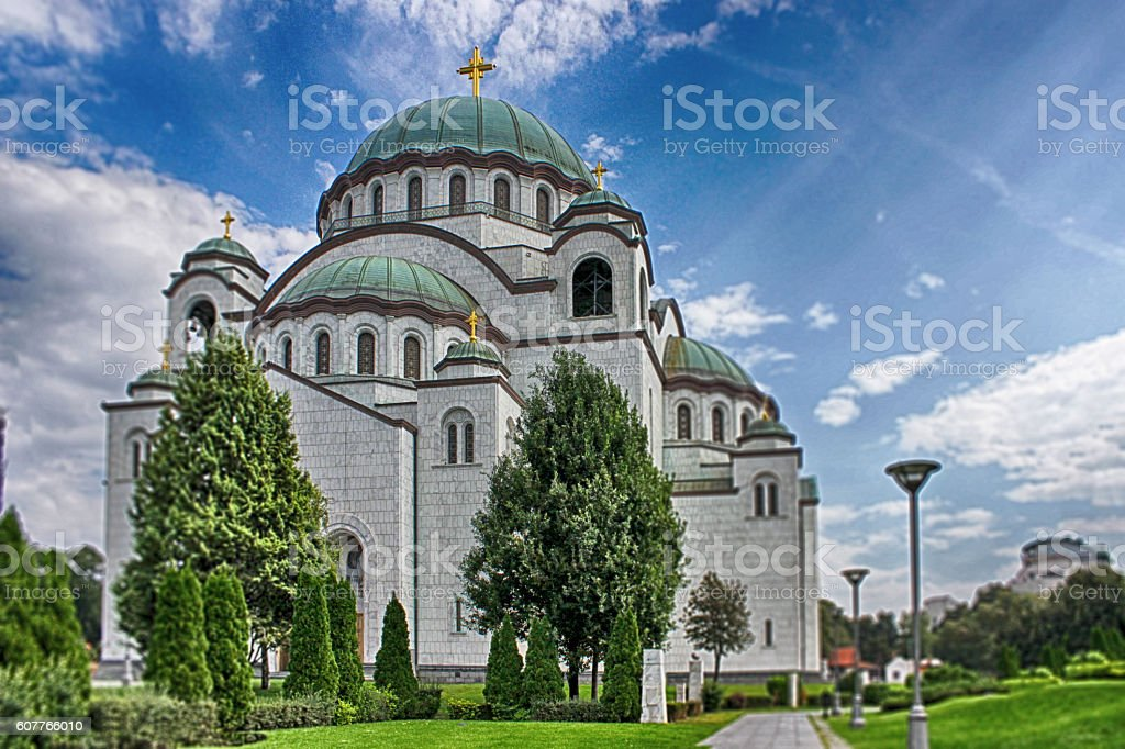 Orthodox Church Saint Sava in Belgrade stock photo