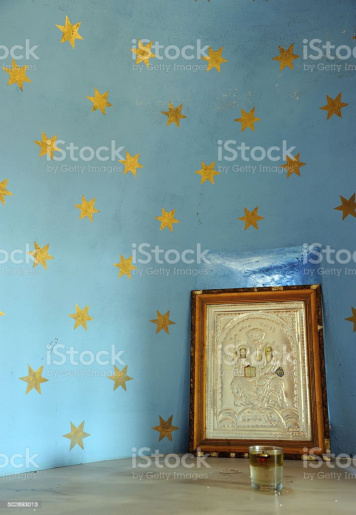 Orthodox Church Sanctuary Detail stock photo