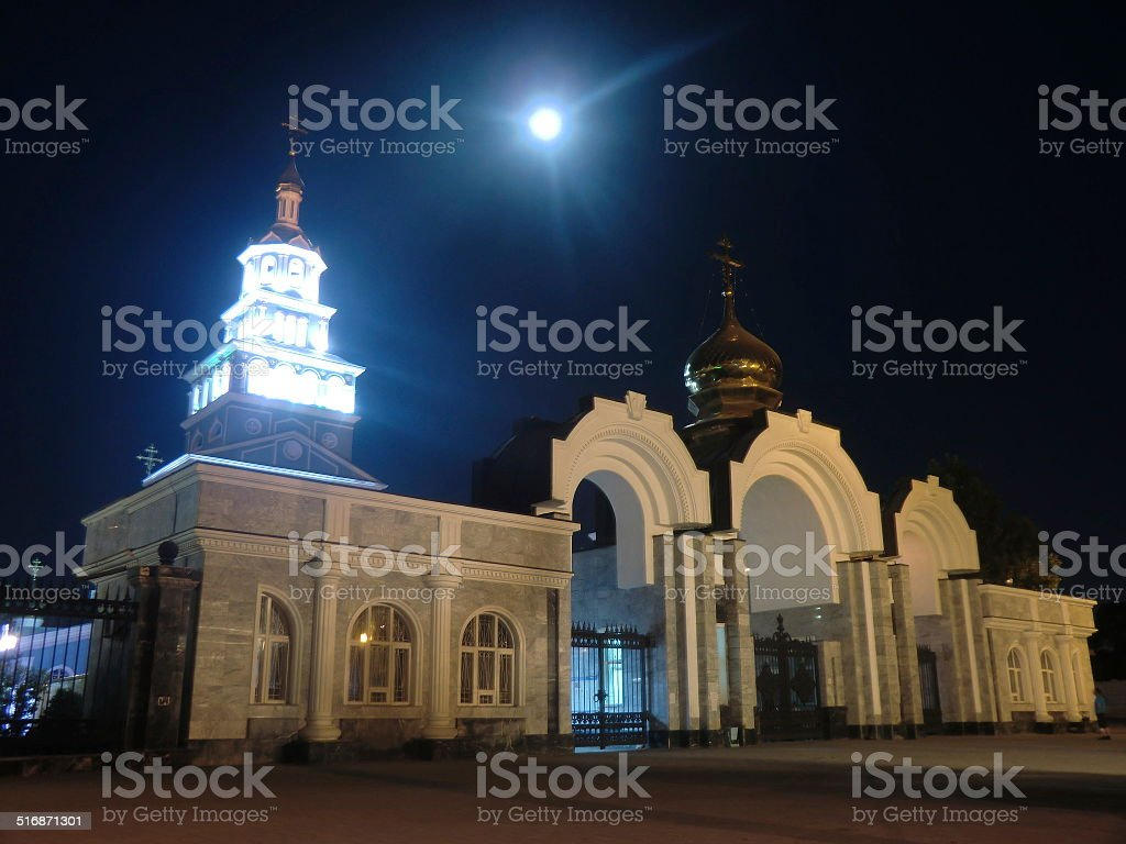 Orthodox Church Tashkent stock photo