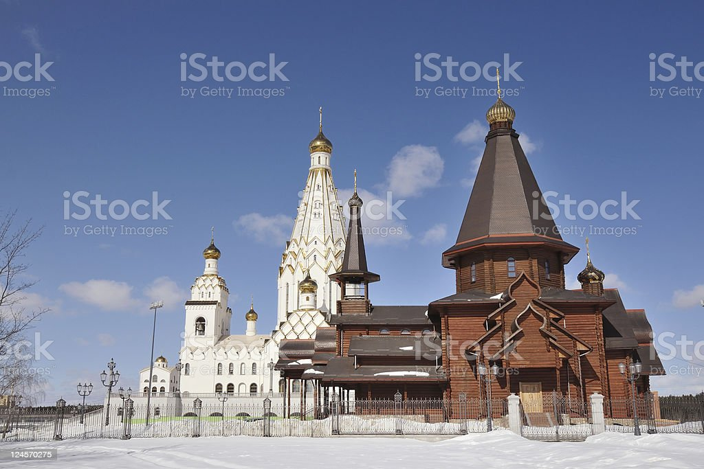orthodox churches stock photo