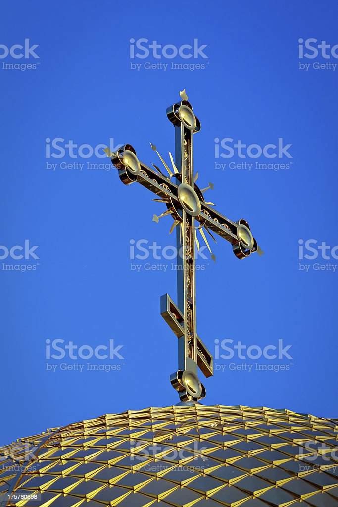 Orthodox cross royalty-free stock photo