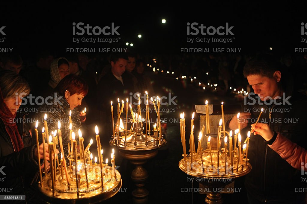Orthodox Easter in Prague, Czech Republic stock photo