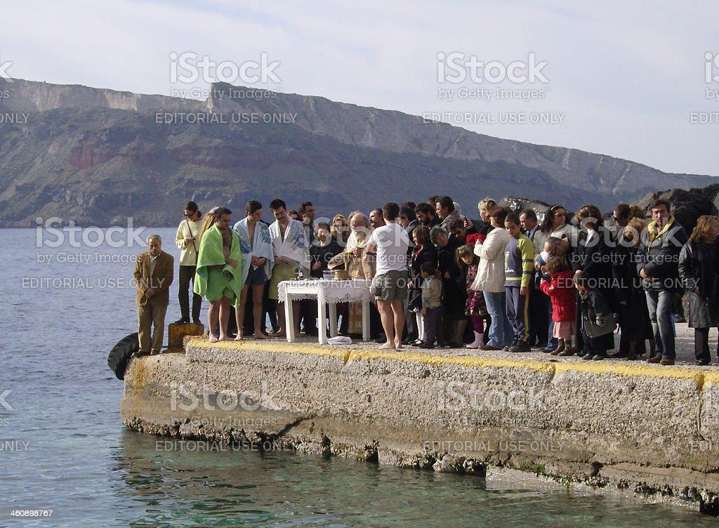 Orthodox Epiphany stock photo