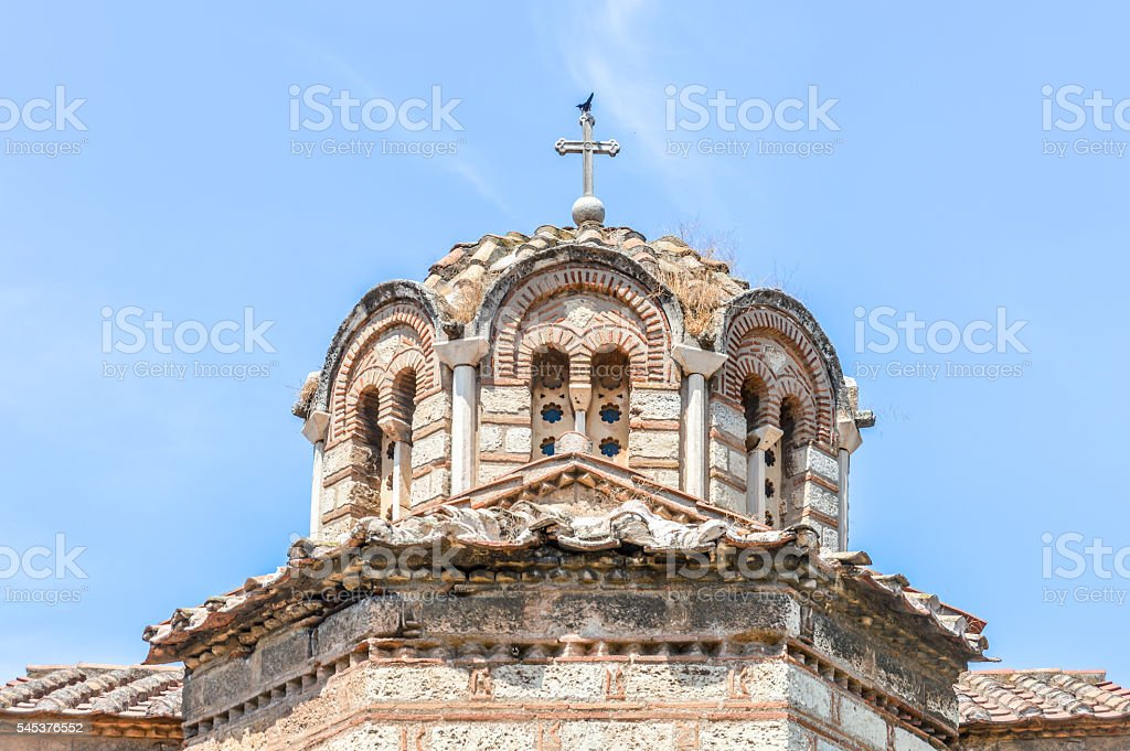 Orthodox Greek church in Athens, Greece stock photo