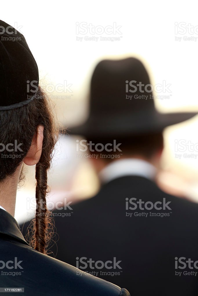 Orthodox jew detail royalty-free stock photo