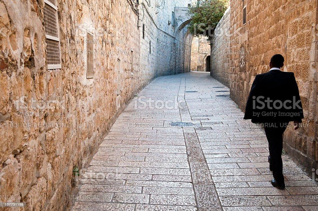 Orthodox Jew in Jerusalem stock photo