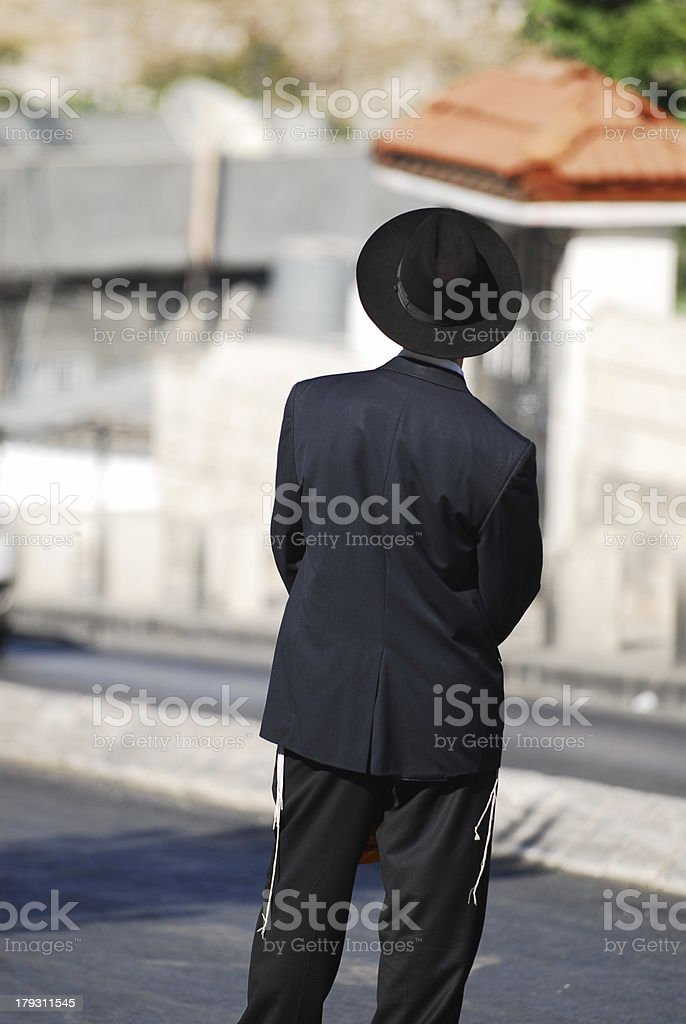 Orthodox Jew Outside Old City royalty-free stock photo